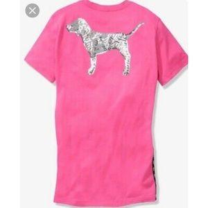 Pink Victorias Secret Bling Campus T-shirt 🌴